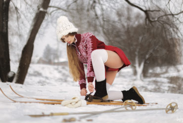 Снегурочка на лыжне